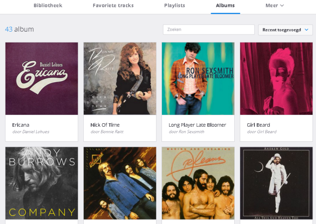 Albums in Deezer