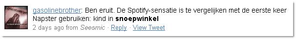 Niet op Spotify? Dan maar downloaden