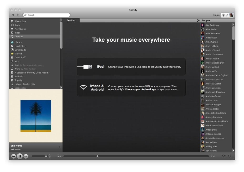 Spotify opent vol de aanval op iTunes
