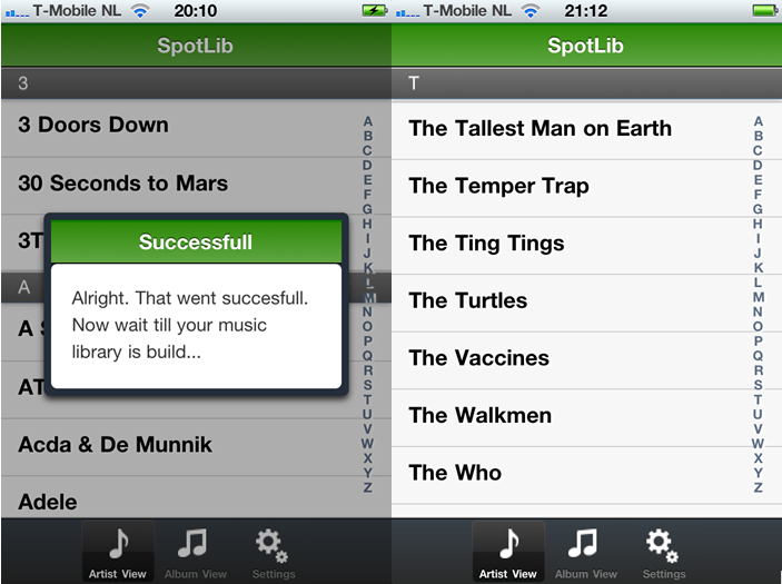 SpotLib: top iPhone App voor Spotify