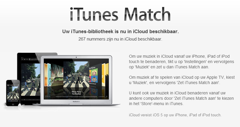 Witwassen met iTunes Match