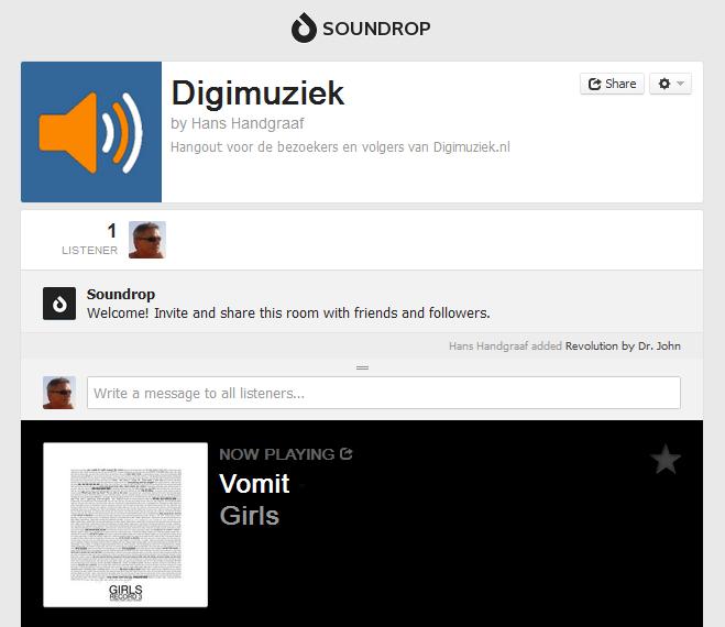 Mooie nieuwe versie Spotify Soundrop App