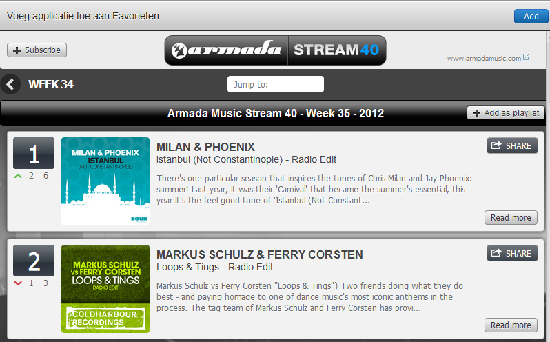 Nieuwe Spotify Apps: Armada Stream 40 en Tunaspot