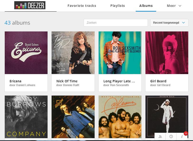 deezer albums